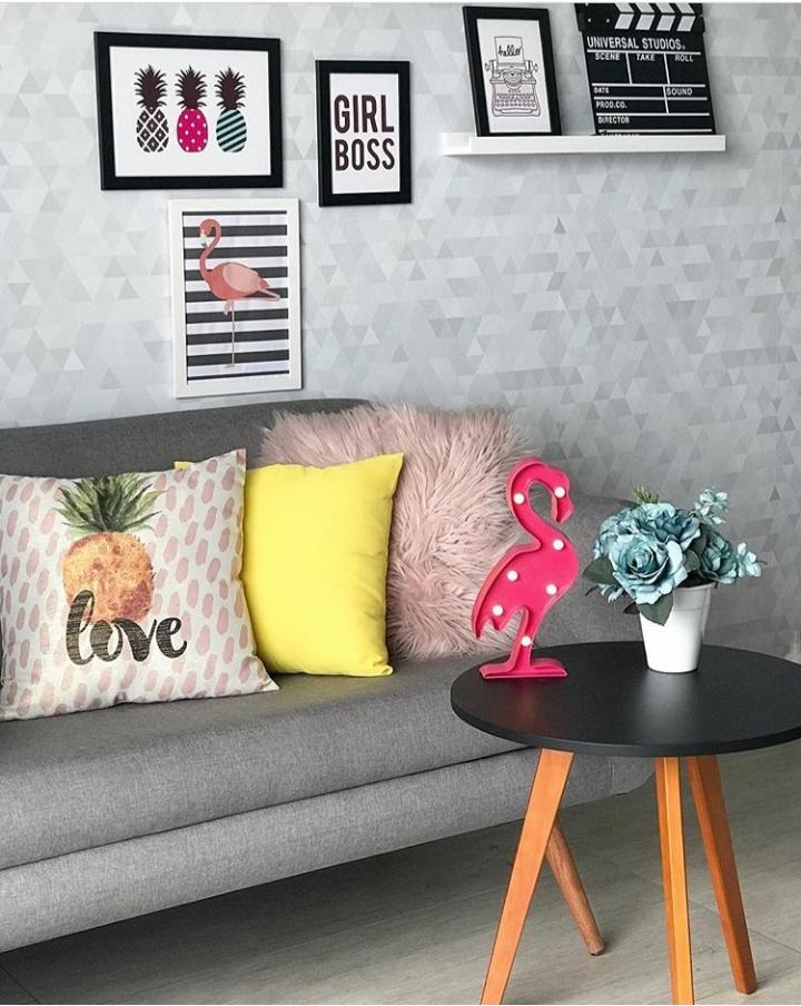 Papel de parede para sala, papel de parede Defacile, papel de parede  abstrato, sala, sala de estar.