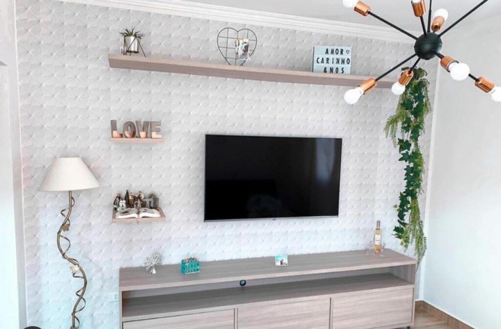 Papel de parede para sala, papel de parede Defacile, papel de parede 3D,  sala, sala de estar.