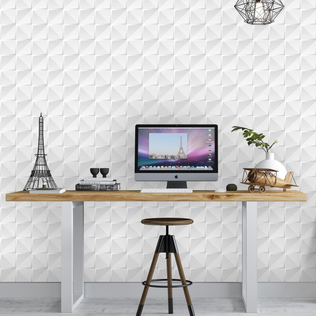 Papel de parede-Decoração Home office-escritório-papel adesivo-Defacile-vibe-conforto-papel 3d-decorar home office