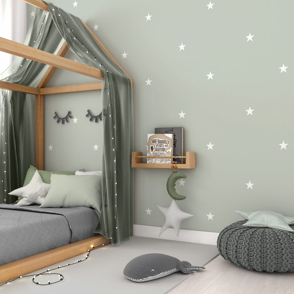 Papel de Parede-Defacile-Brinquedoteca-Infantil-Universo Infantil-Papel adesivo-estrela