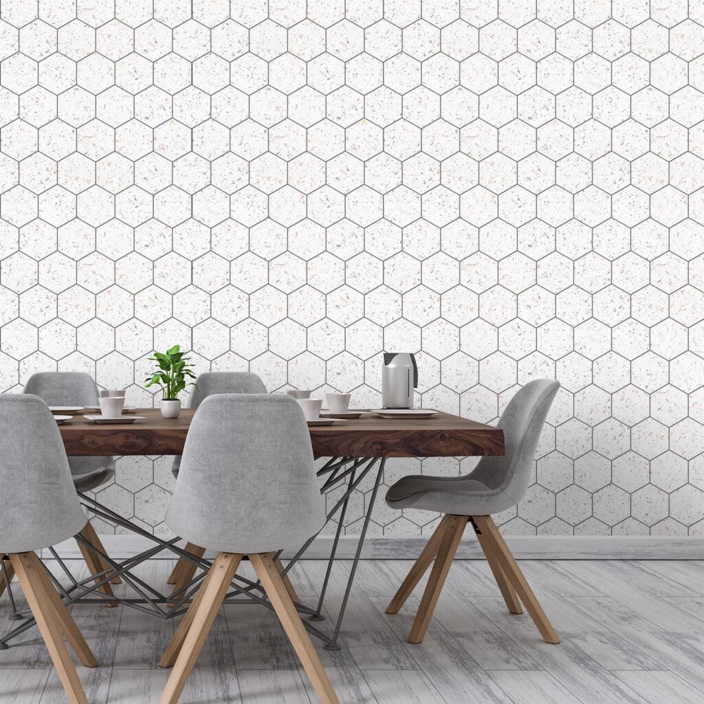 papel de parede para sala de jantar, adesivo, Defacile, cozinha, copa, colmeia