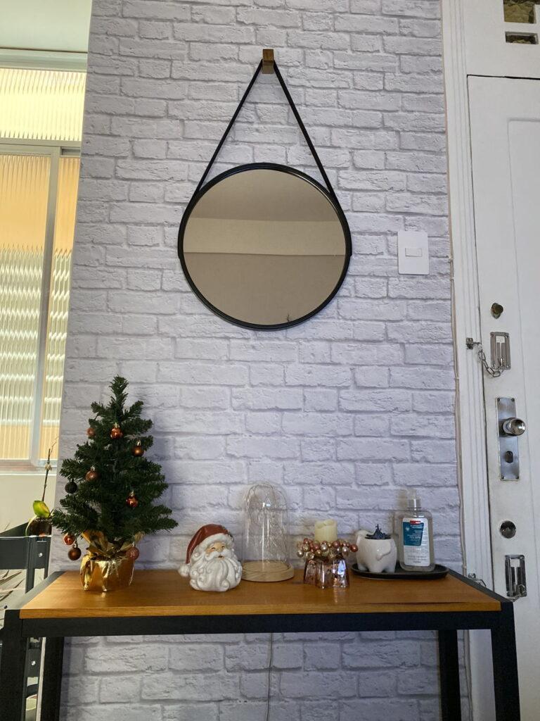 decoracao-do-corredor-papel-de-parede-quadros-tijolo-papel-adesivo-diy