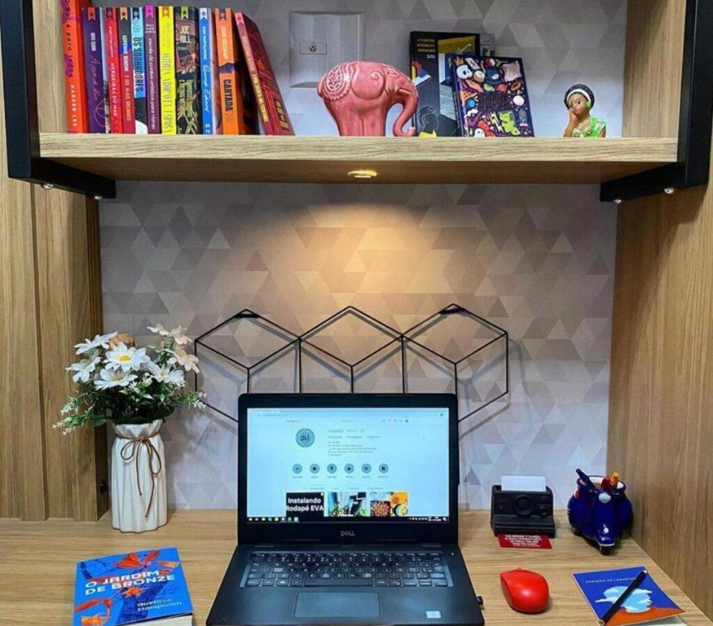 Papel de parede-Decoração Home office-escritório-papel adesivo-Defacile-vibe-conforto-papel abstrato-decorar home office
