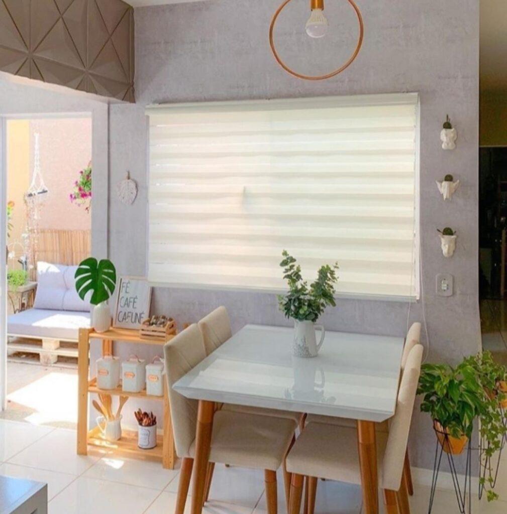 papel de parede para sala de jantar, adesivo, Defacile, cozinha, copa, cimento queimado