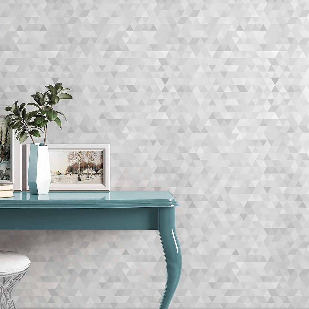 Hall de entrada-decoração-Defacile-papel de parede-Abstrato-trilogia-adesivo
