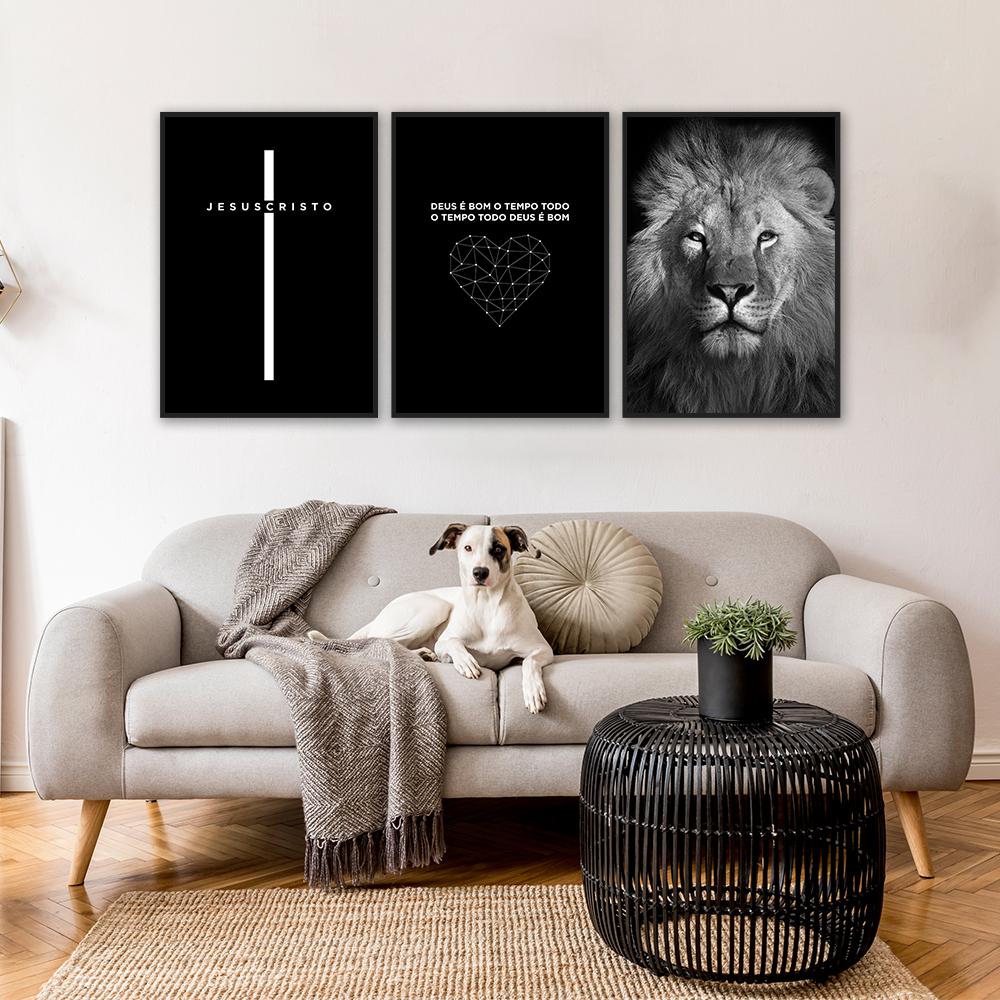 Quadro decorativo, quadros, decoração com quadros, quadro religiosos, trio de quadro