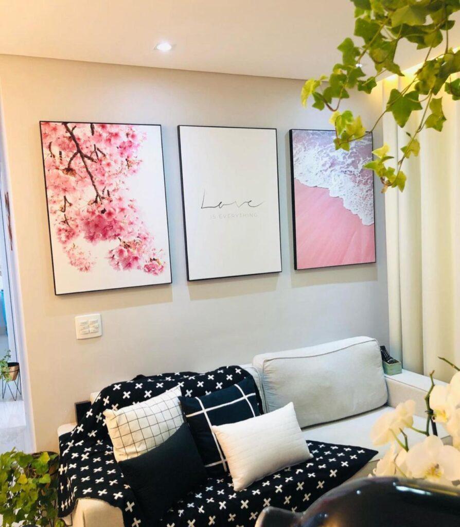 Quadro decorativo, quadros, decoração com quadros, quadro de paisagem, trio de quadros