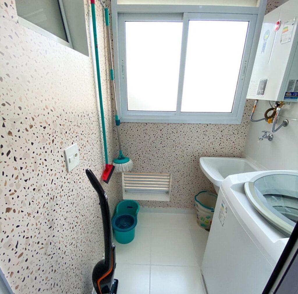 Papel de Parede Granilite, Granilite Areia, Defacile, adesivo autocolante, granilite, lavanderia