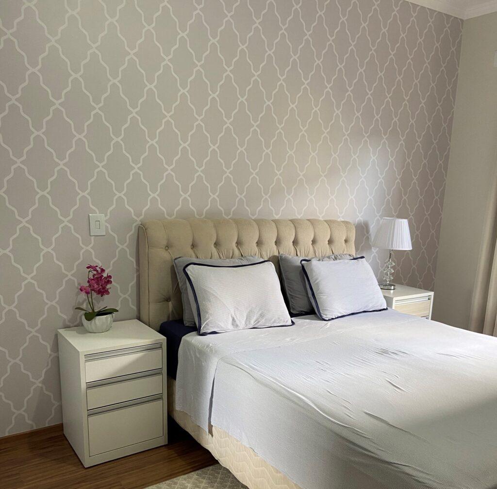 Papel de Parede para Quarto de Casal, papel de parede para quarto de casal, Defacile, adesivo, geométrico