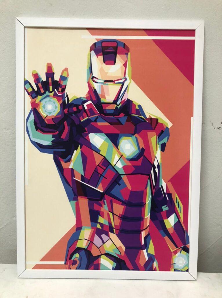 Quadro Decorativo Geek Iron Man Colors, Geek, Homem de Ferro, Iron Man, Geek, Coleção Geek, Defacile, Quadros e Papéis de Parede