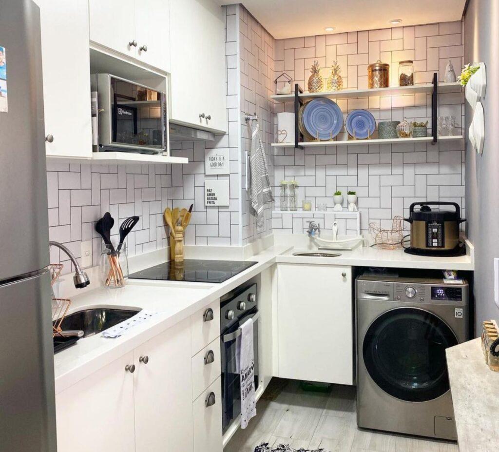 Ambientes integrados, Papel de parede, sala, quarto, cozinha, lavanderia, sala de jantar, Defacile