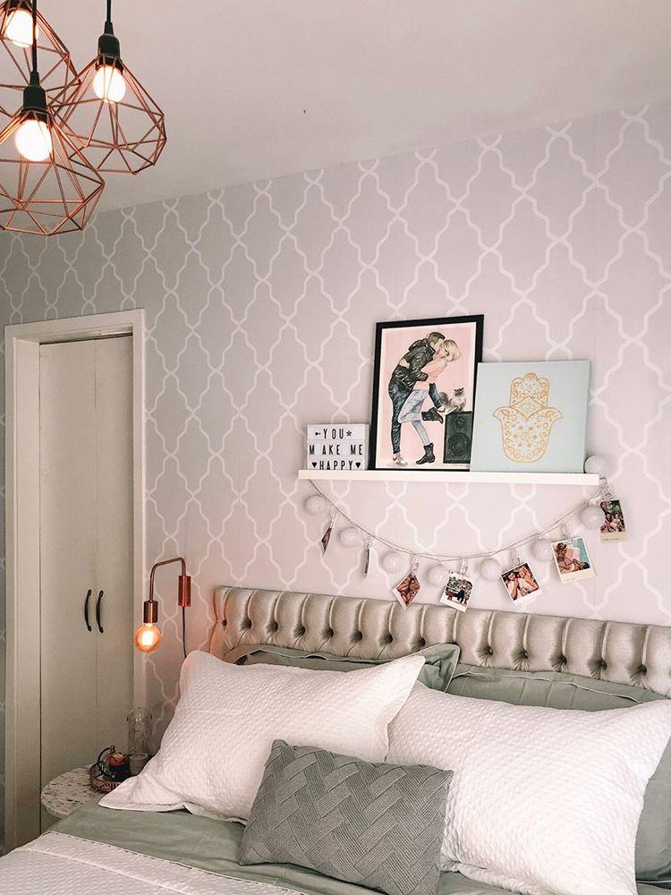 Papel de parede, quarto de solteira, quadros decorativos, solteira, Defacile, diy, decoração, quarto, casa.