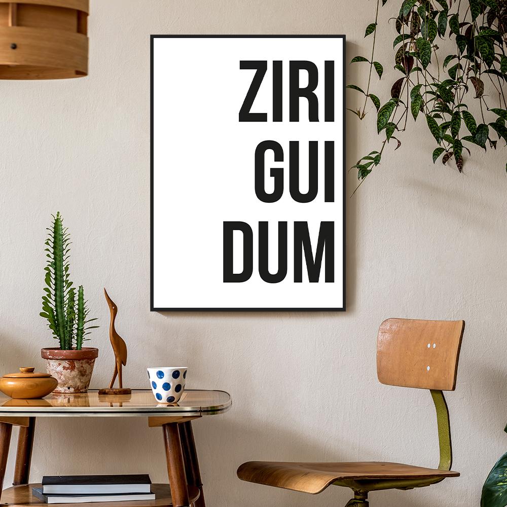 Quadro Decorativo Defacile Ziriguidum - QD11367