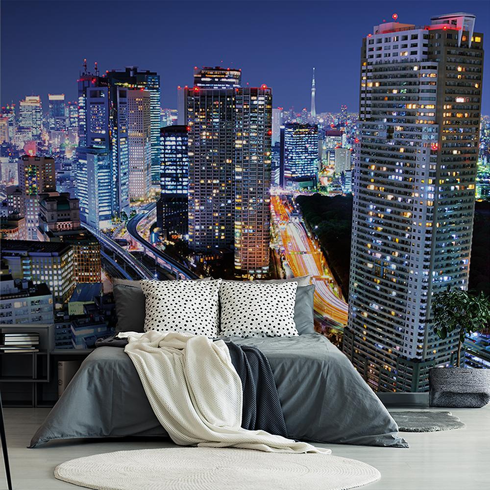 Painel Fotográfico Adesivo Autocolante Noite Urbana de Sidnei